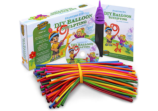 Balloon Animal Kit for beginners twisting & modeling balloon Kit with pump