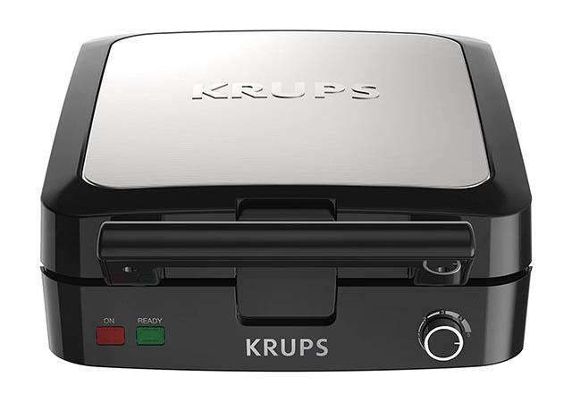KRUPS Belgian stainless steel Waffle Maker with Removable Plates