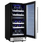 Phiestina Dual Zone Wine Cooler Refrigerator for White and Red Wines with Digital Memory Temperature Control1