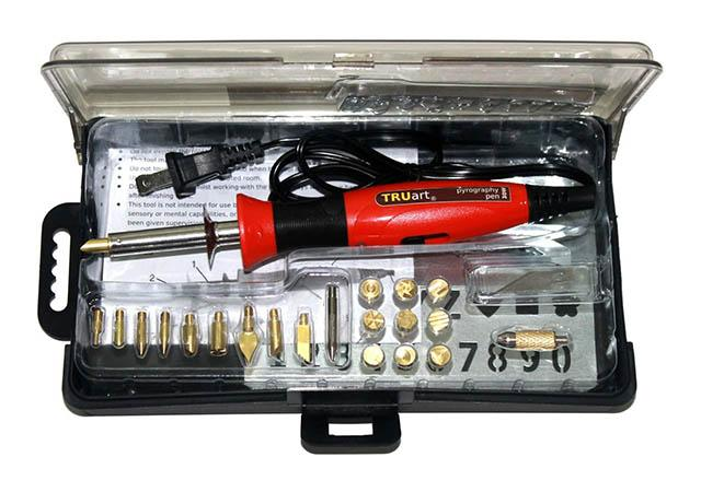 TRUArt Stage 1 Wood and Leather Pyrography Best Woodburning Tool Kit for beginner