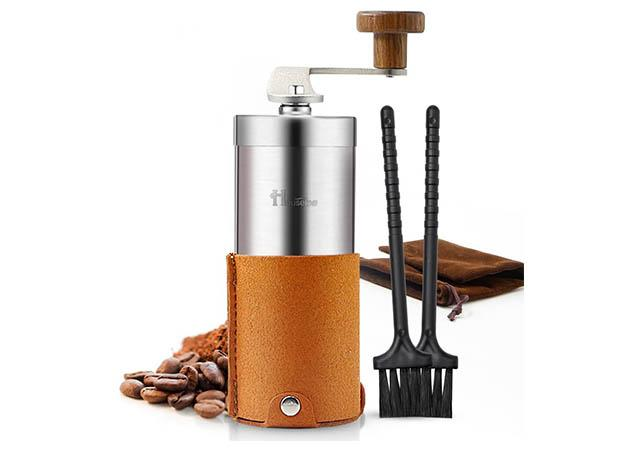 Best Portable Stainless Steel Manual Coffee Grinder with Conical Ceramic Burrs
