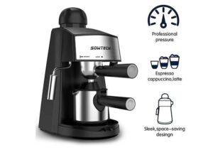 Best 3.5 Bar 4 Cup Espresso Machine with Steam Milk Frother and Stainless steel Mug1
