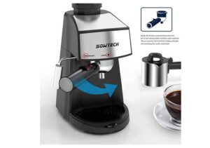 Best 3.5 Bar 4 Cup Espresso Machine with Steam Milk Frother and Stainless steel Mug2