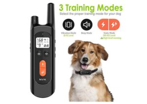 NVK Waterproof Dog Training Collar with 3 Training Modes1