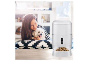 LeeKooLuu Best Automatic Dog Feeder with Camera, Wi-Fi, Voice and Video recording