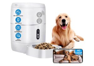 LeeKooLuu the Best Automatic Dog Feeder with Camera, Wi-Fi, Voice and Video recording