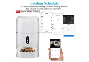 LeeKooLuu the Best Automatic pet Feeder with Camera, Wi-Fi, Voice and Video recording