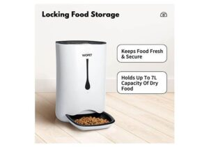 WOPET Best Selling Automatic Dog Feeder with Portion Control, Voice Recorder