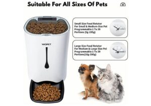 WOPET Best Selling Automatic Pet Feeder with Portion Control, Voice Recorder and Timer
