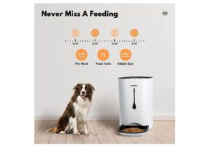 WOPET Best Selling Automatic Dog Feeder with Portion Control, Voice Recorder and Timer