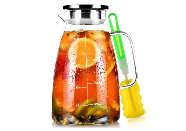 Best Glass Pitcher Water Pitcher with Lid and Precise Scale Line