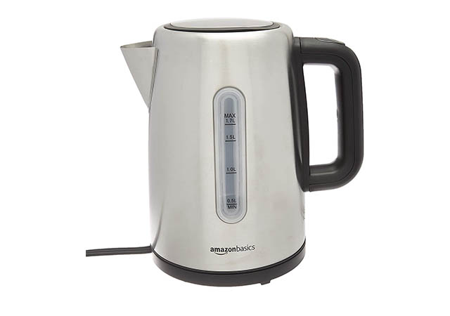 Amazon Basics Electric Portable Stainless Steel Fast, Hot Water Kettle